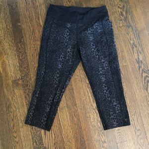 Betsy Johnson black cheetah yoga pants